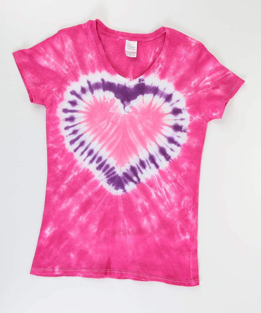 Tulip 5 Tie-Dye Heart T-shirt Ideas
