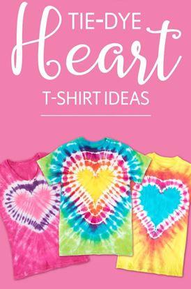 Picture of 5 Tie-Dye Heart T-shirt Ideas