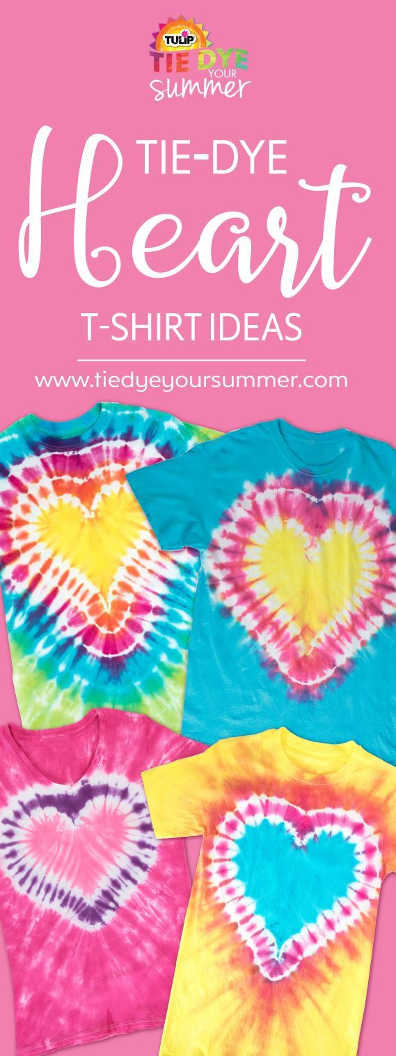 Tulip Tie-Dye Heart T-shirt Ideas