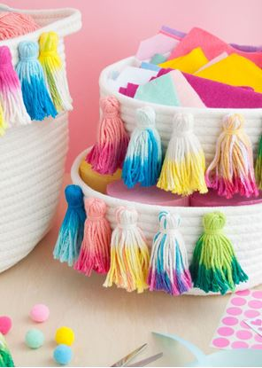 Picture of Tie-Dye Tassel Baskets