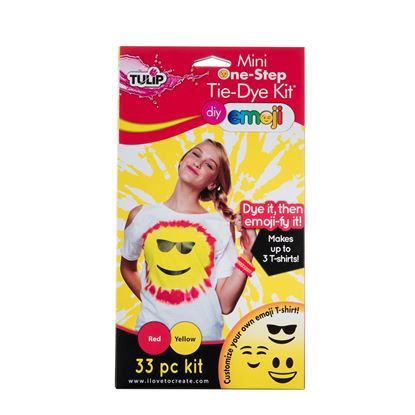 Red and Yellow Emoji Tie Dye Kit