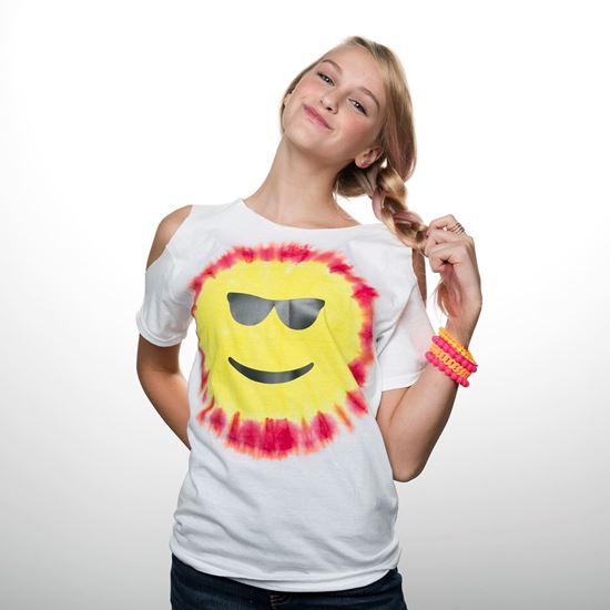 Red and Yellow Emoji Tie Dye Shirt