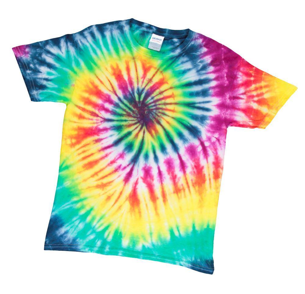 Tulip Tie Dye Spiral Pattern Ideas - Rainbow