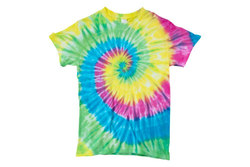 Tulip Tie Dye Spiral Pattern Ideas - Super Big tie-dye T-shirt