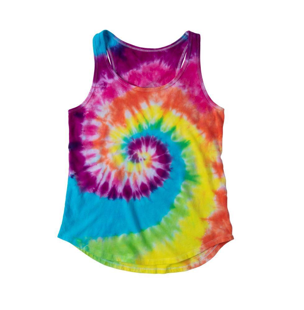 Tulip Tie Dye Spiral Pattern Ideas - Super Big tie-dye tank top