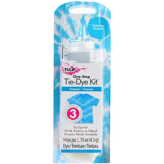 Turquoise 1 Color Tie Dye Kit