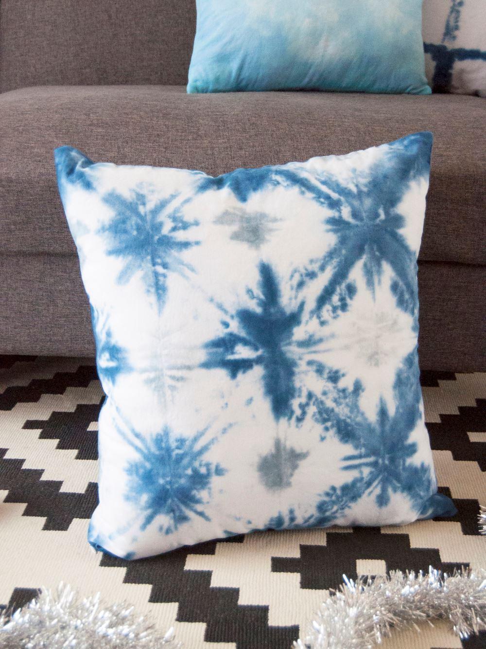 Shibori Tie-Dye Pillow