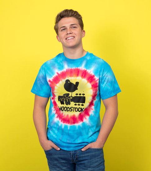 woodstock tie dye shirt