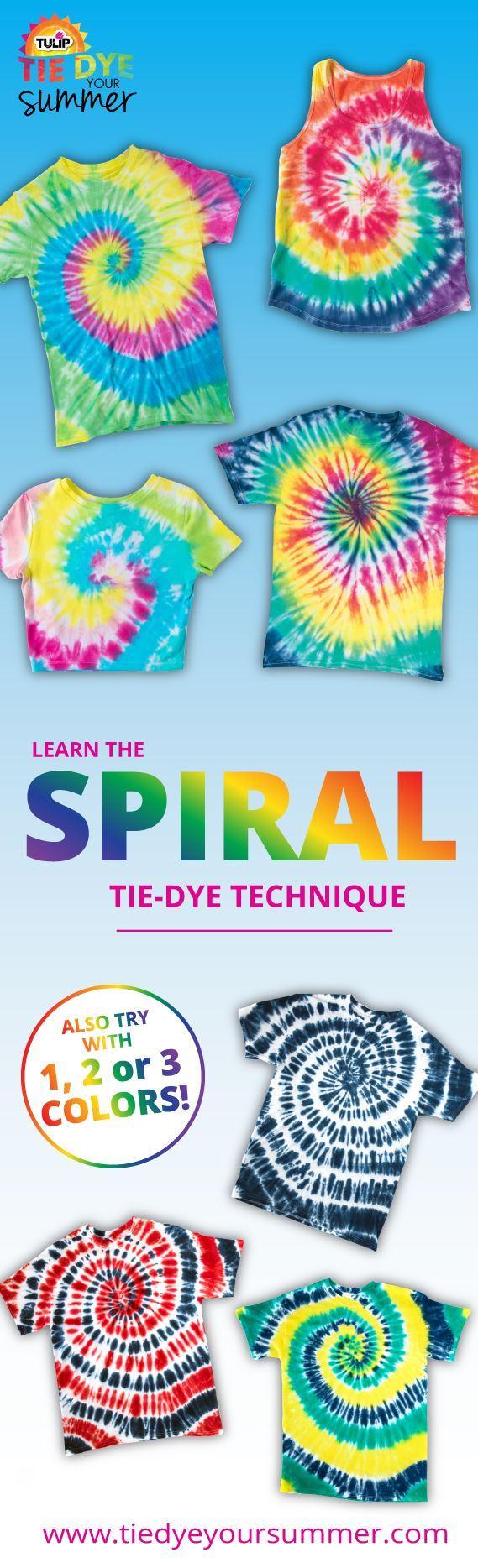 7 Spiral Tie-Dye Ideas