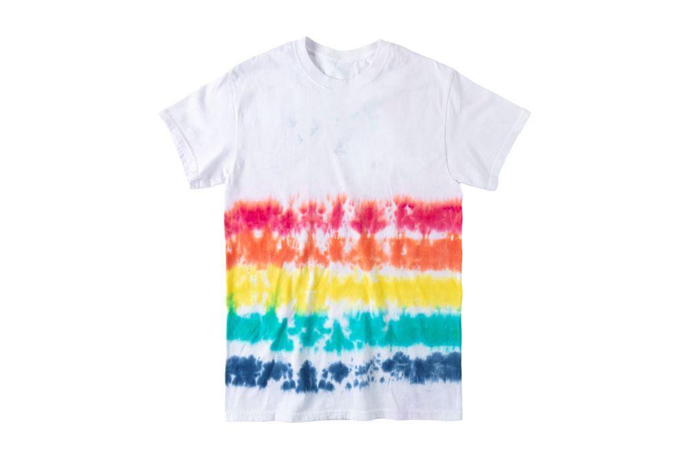Rainbow Stripe Tie-Dye T-shirt