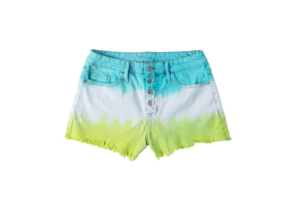 Stripe Tie-Dye Shorts