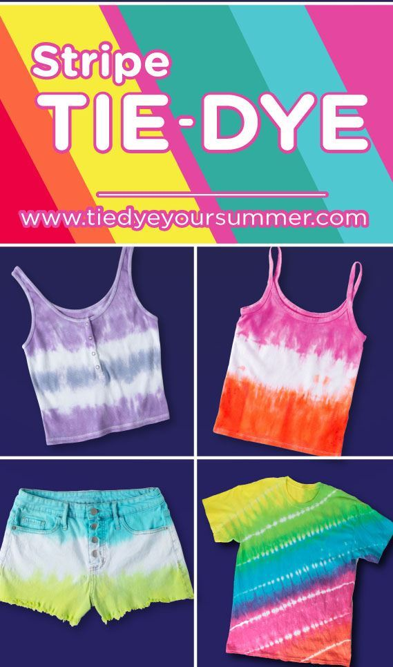 Stripe Tie-Dye Project Ideas