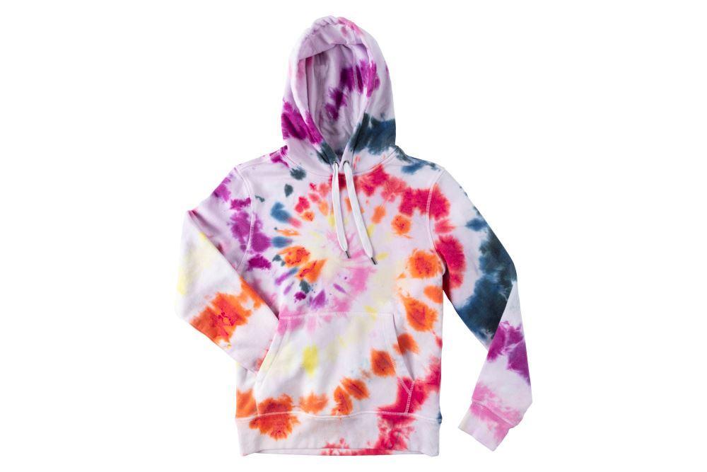 Rainbow Swirl Tie-Dye Hoodie