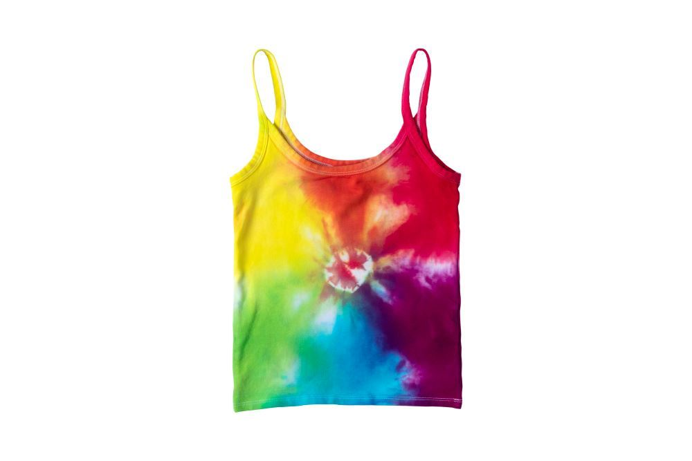 Rainbow Sunburst Tie-Dye Tank Top