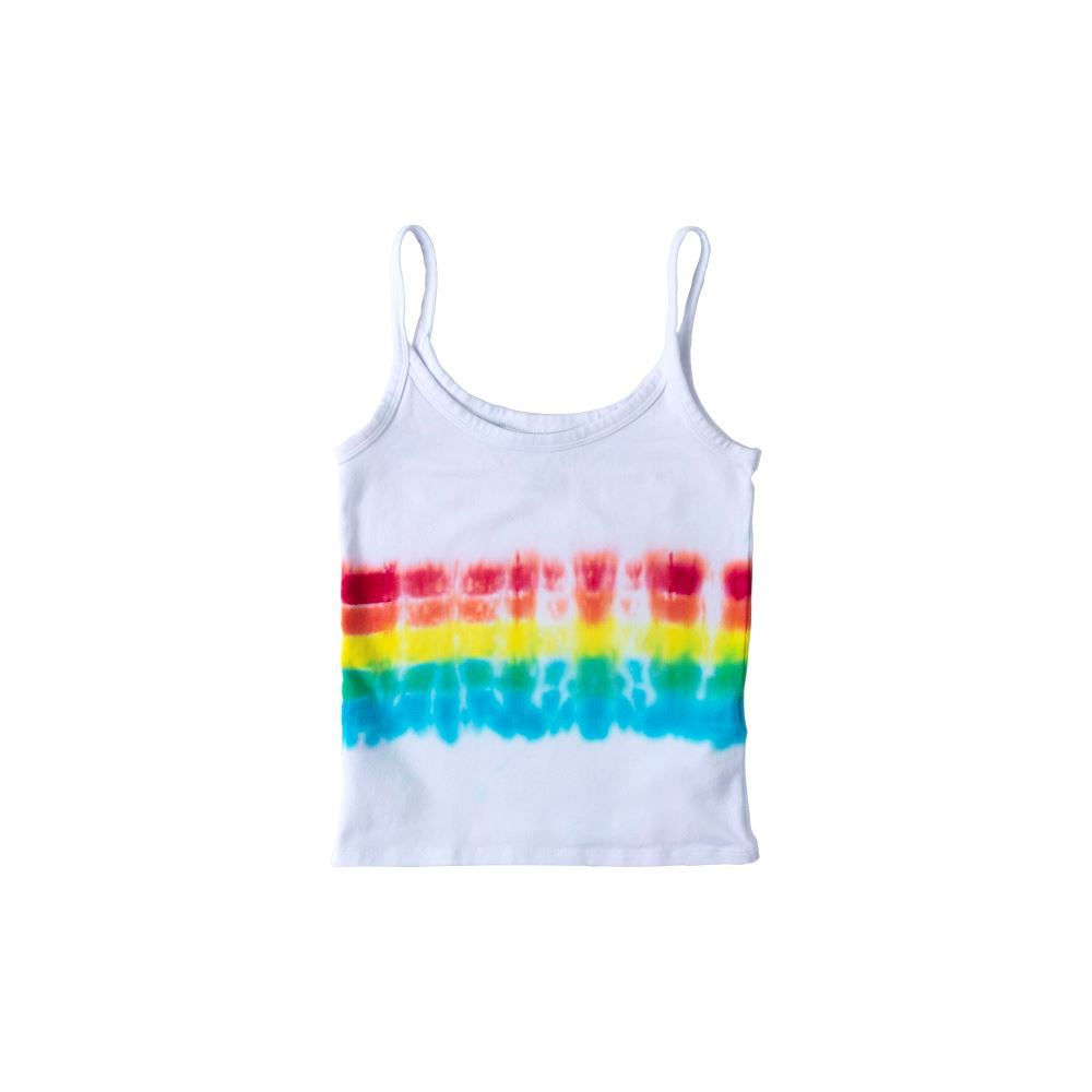 Rainbow Stripe Tie-Dye Tank Top
