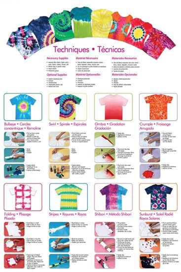 Rainbow 5-Color Tie-Dye Kit guide