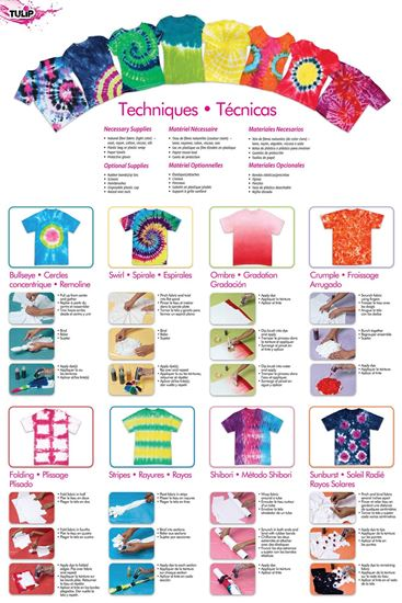 Neon 5-Color Tie-Dye Instructions