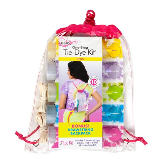 Picture of Tulip® Neon One-Step Tie-Dye Backpack Kit