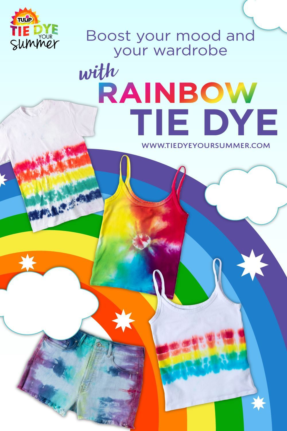 Tulip Rainbow Tie-Dye Projects