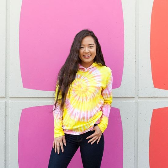 Pink and Yellow Tie Dye Hoodie