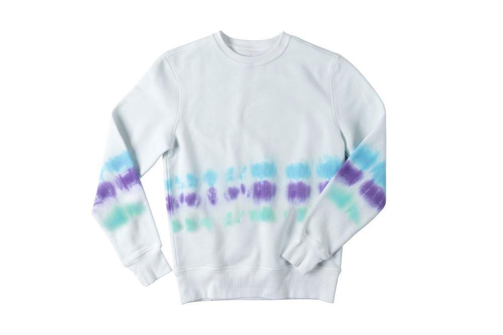 Pastel Stripe Tie-Dye Sweatshirt