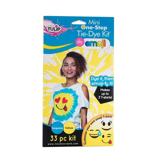 Turquoise and Yellow Emoji Tie Dye Kit