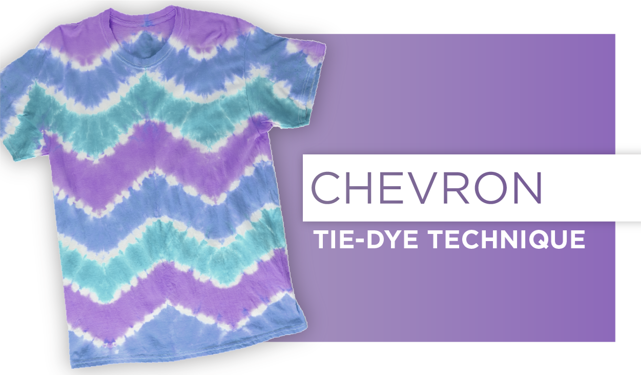 Picture of Chevron Tie-Dye Technique