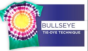 Bullseye Tie-Dye Technique