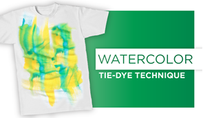 Watercolor Tie-Dye Technique