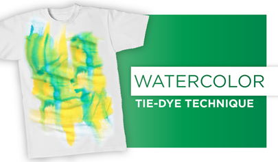 Watercolor Tie-Dye Colorwash Technique