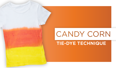Candy Corn Tie-Dye Technique