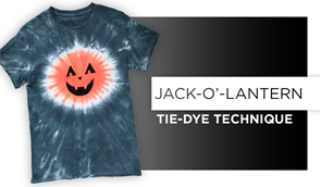 Jack-O-Lantern Tie-Dye Technique