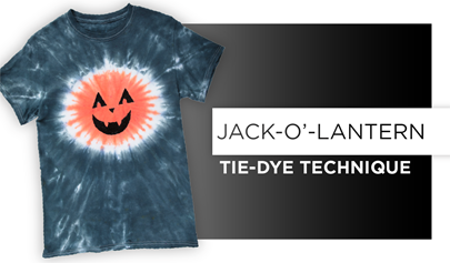 Jack-O-Lantern Tie-Dye Technique
