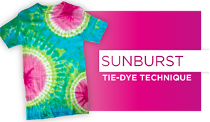 Sunburst Tie-Dye Technique