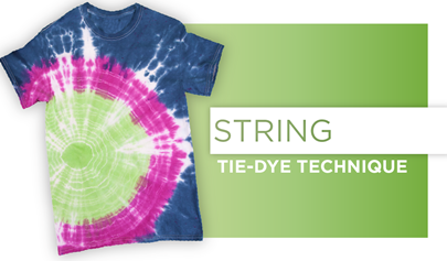 String Tie-Dye Technique