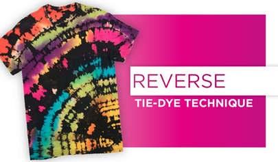 Reverse Tie-Dye Technique