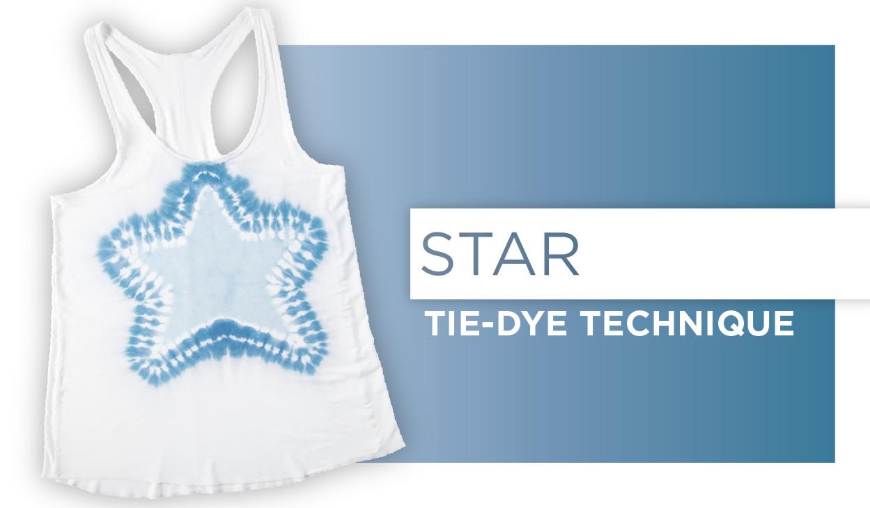 Star Tie-Dye Technique