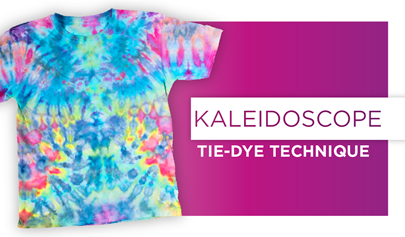 How to Kaleidoscope Ice Dye Tie Dye