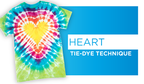 Heart Tie-Dye Technique