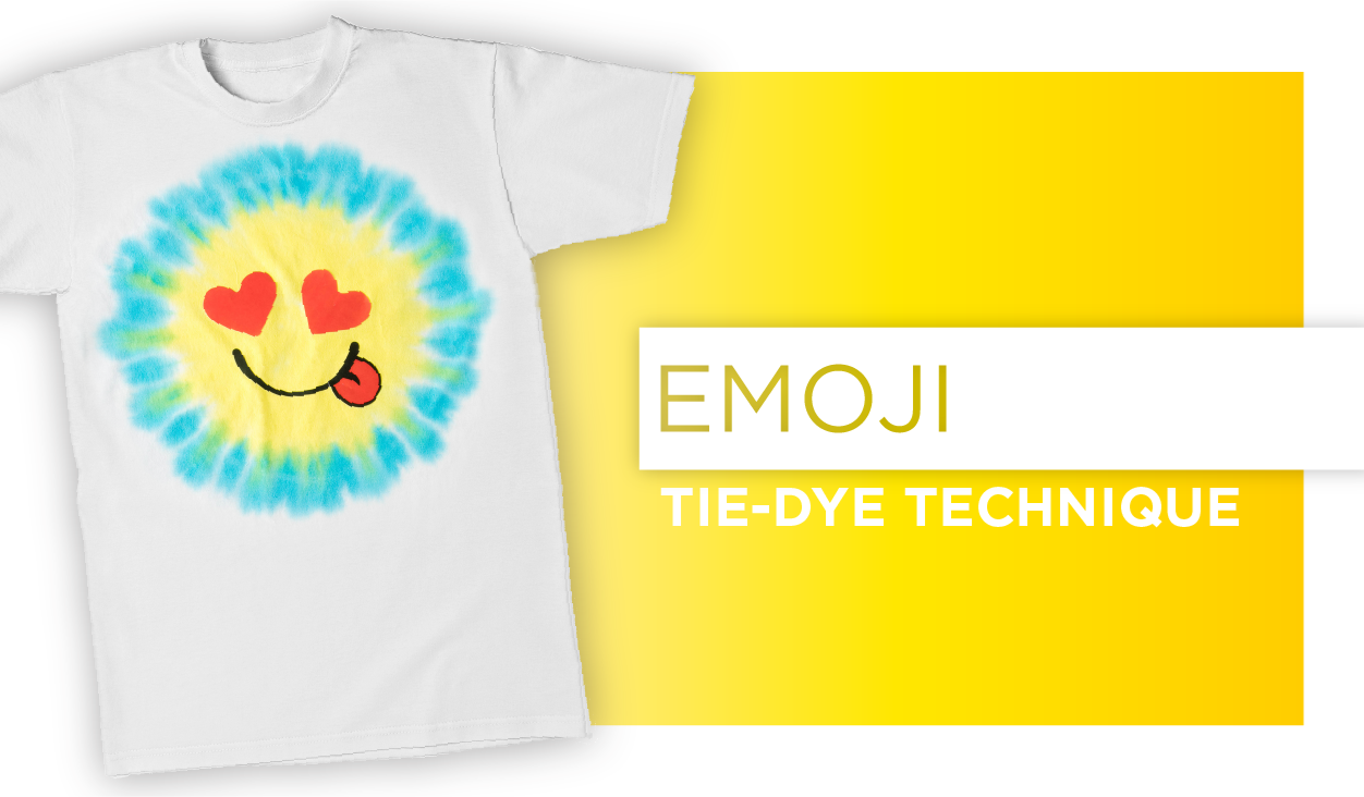 Emoji Tie-Dye Technique