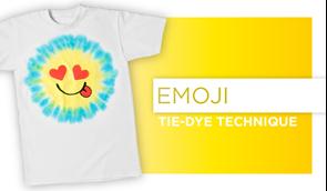Emoji Tie-Dye Technique