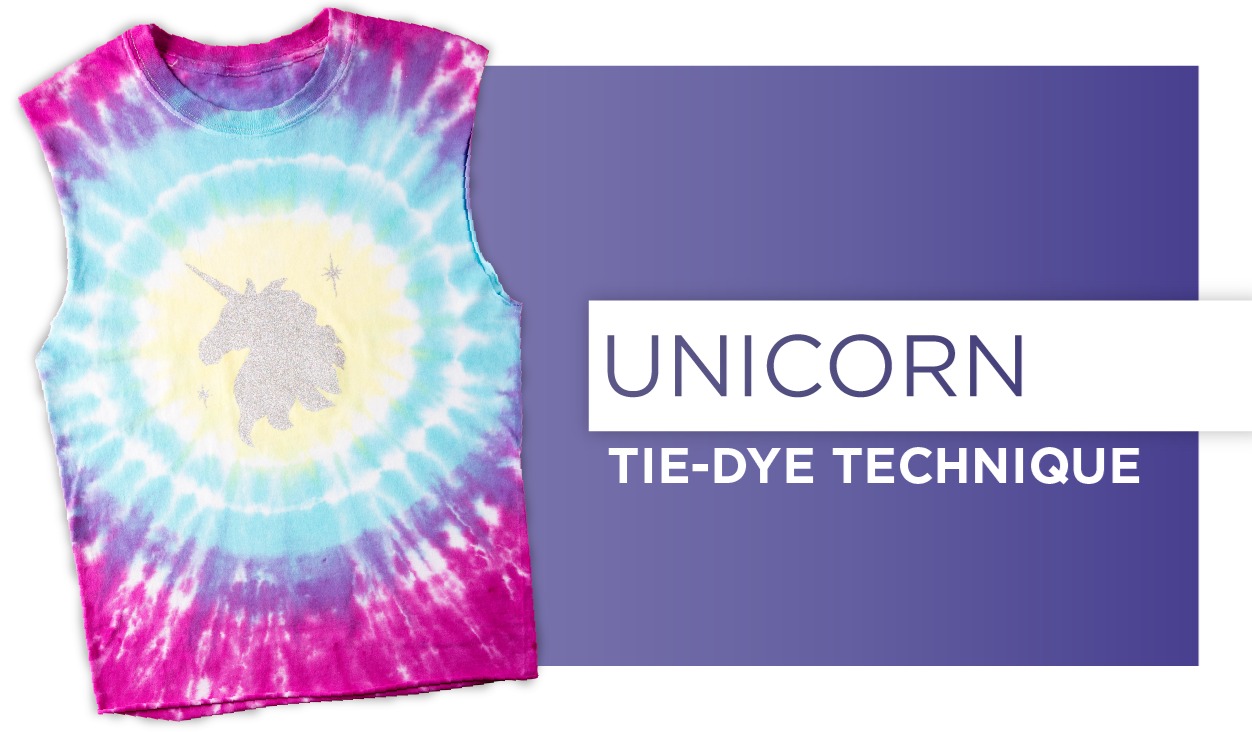 Unicorn Tie-Dye Technique