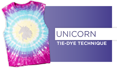 How to Unicorn Tie Dye