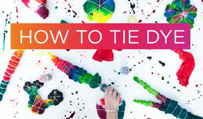 How to Tie Dye Shirts with Tulip