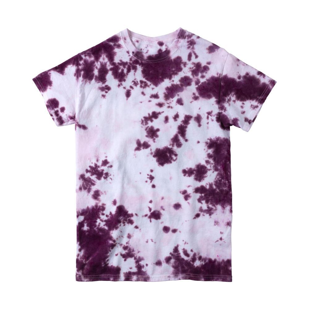 Purple Crumple Tie-Dye T-shirt