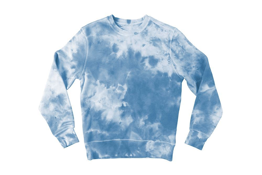 Blue Crumple Tie-Dye Sweatshirt