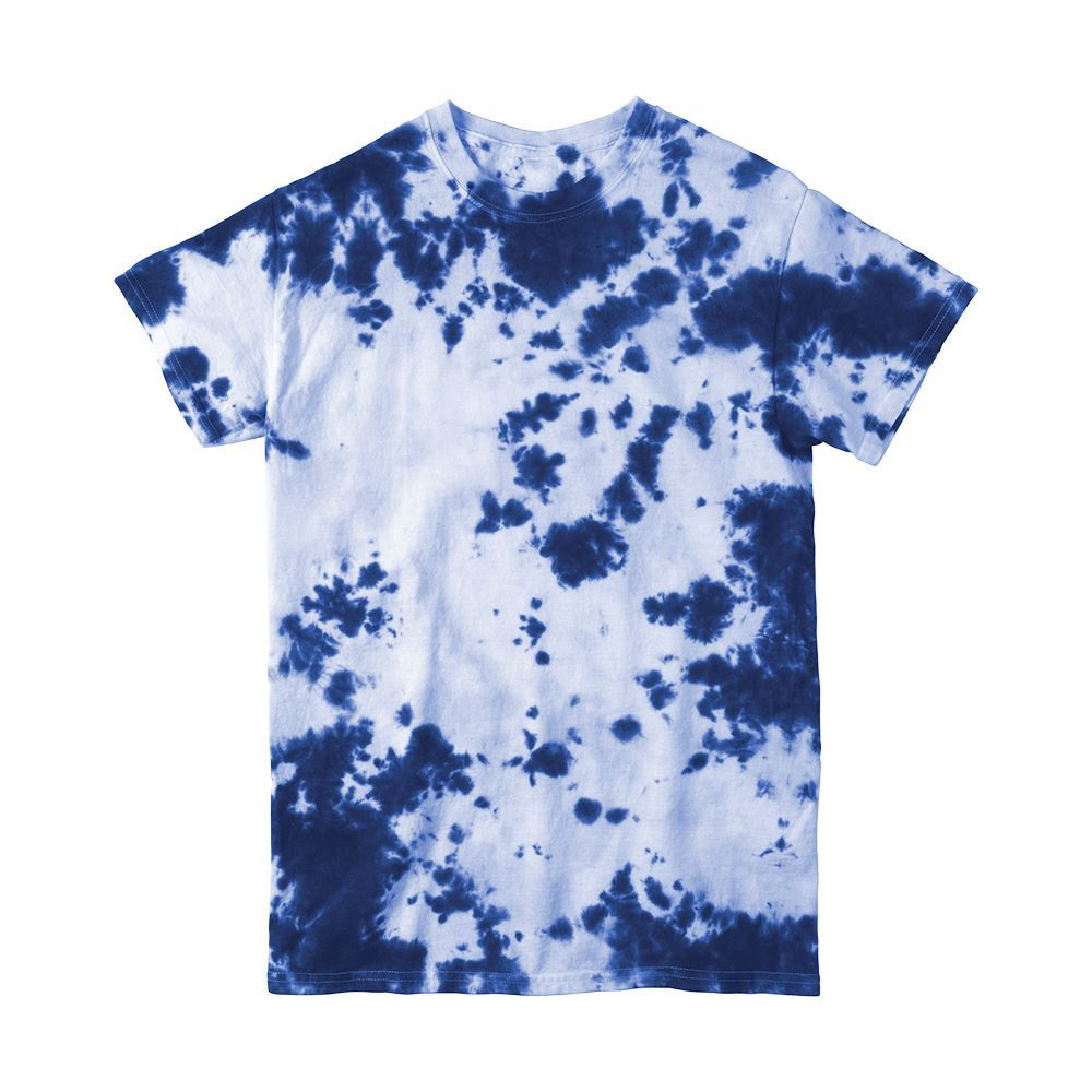 Blue Crumple Tie-Dye T-shirt