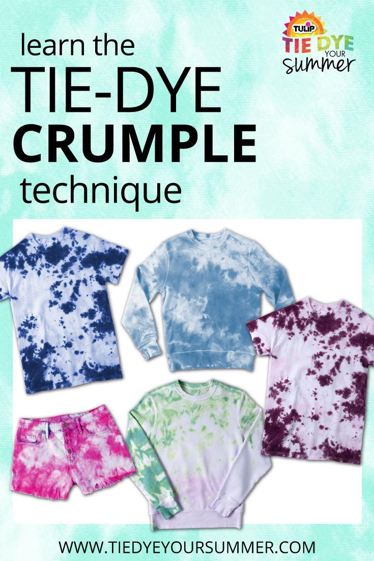 Tulip Crumple Tie-Dye Ideas
