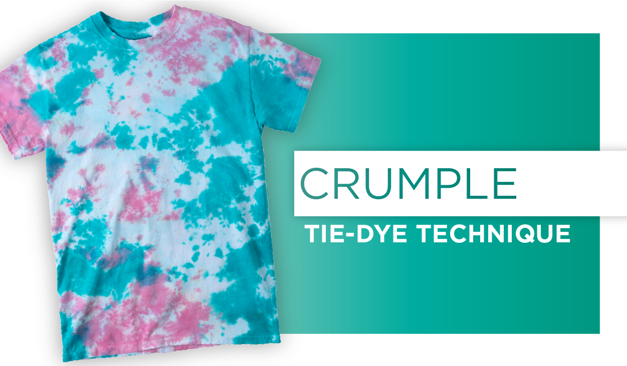 Crumple Tie-Dye Technique