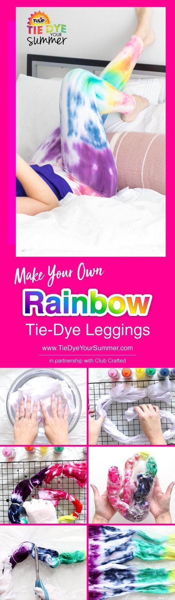 Make Your Own Rainbow Tie-Dye Leggings